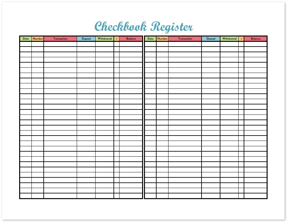 2017 Budget Binder Printable How To Organize Your Finances - check register in pdf