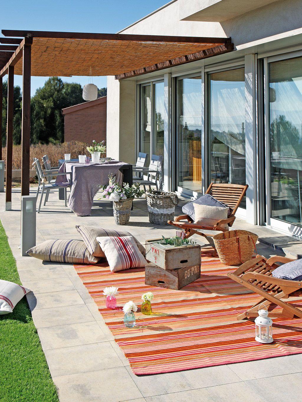 12 ideas low cost para el jardín | Patios, Decoraciones de ... on Low Cost Patio Ideas id=36893
