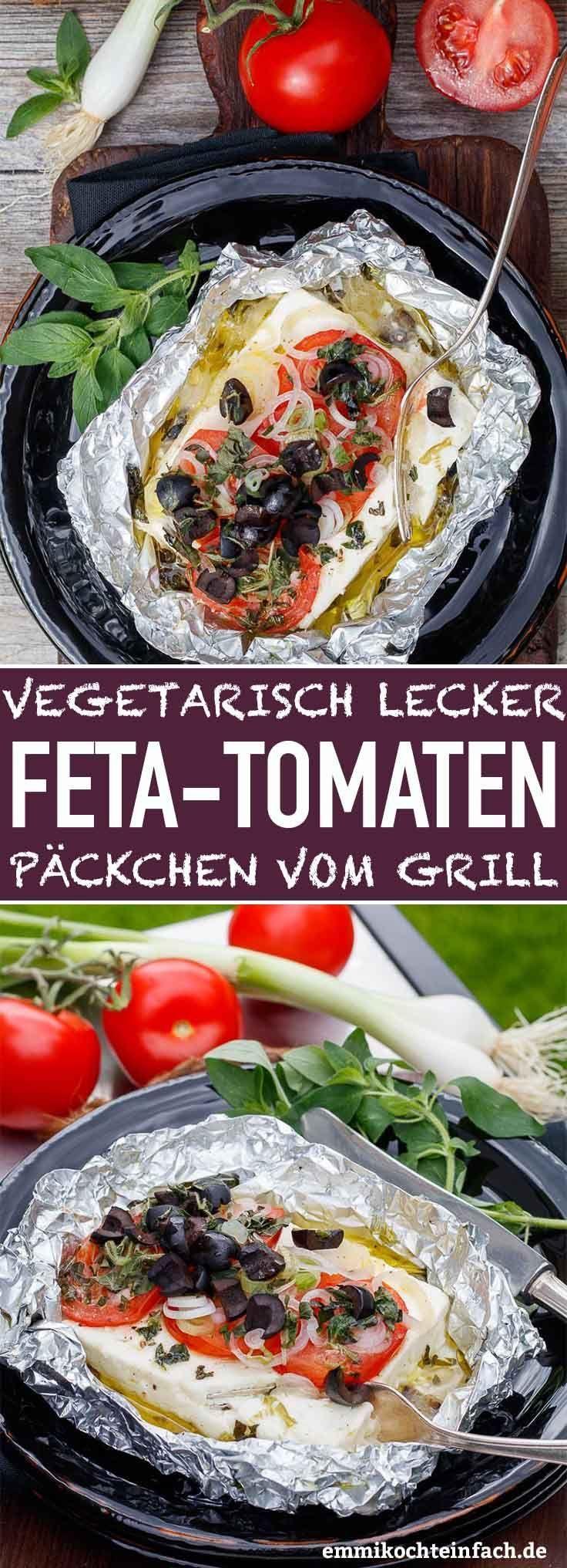 Feta Tomaten Päckchen vom Grill - emmikochteinfach