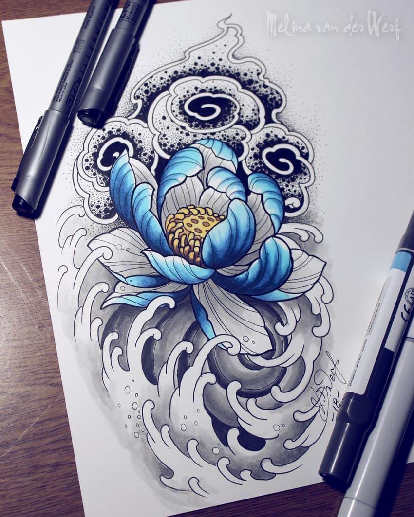Pin De Ann Abbett Em Tattoos Desenho De Lotus Tatuagens De