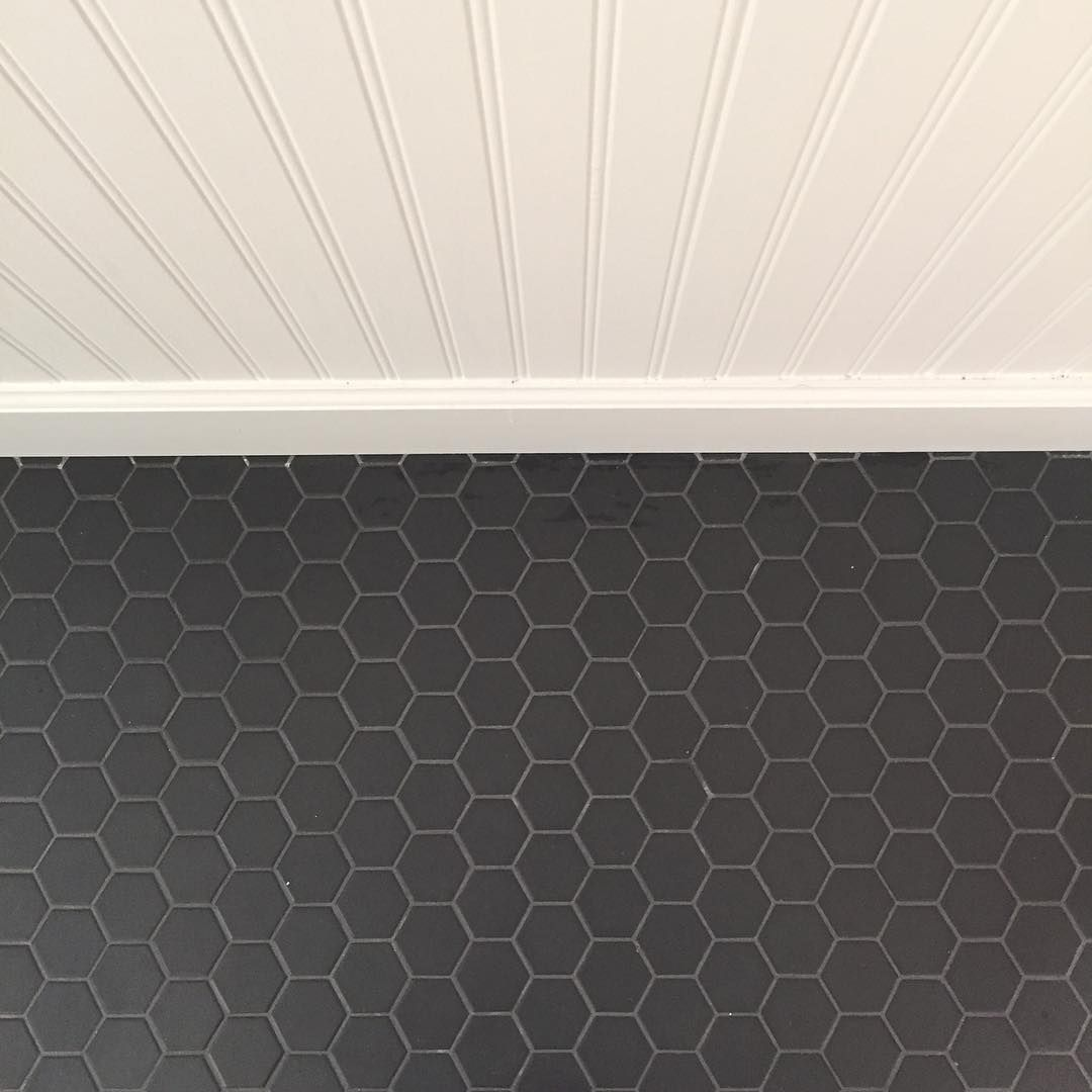 Tile By American Olean A34 Black 2x2 Quot Inch Hex While It