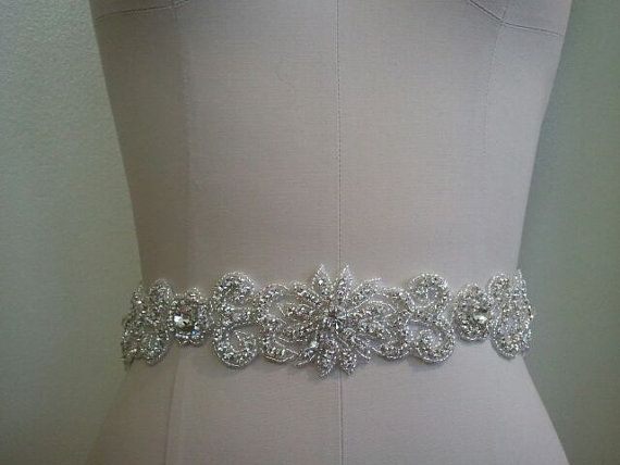 $50 SALE - Wedding Belt, Bridal Belt, Sash Belt, Crystal Rhinestone Sash - Style B70013