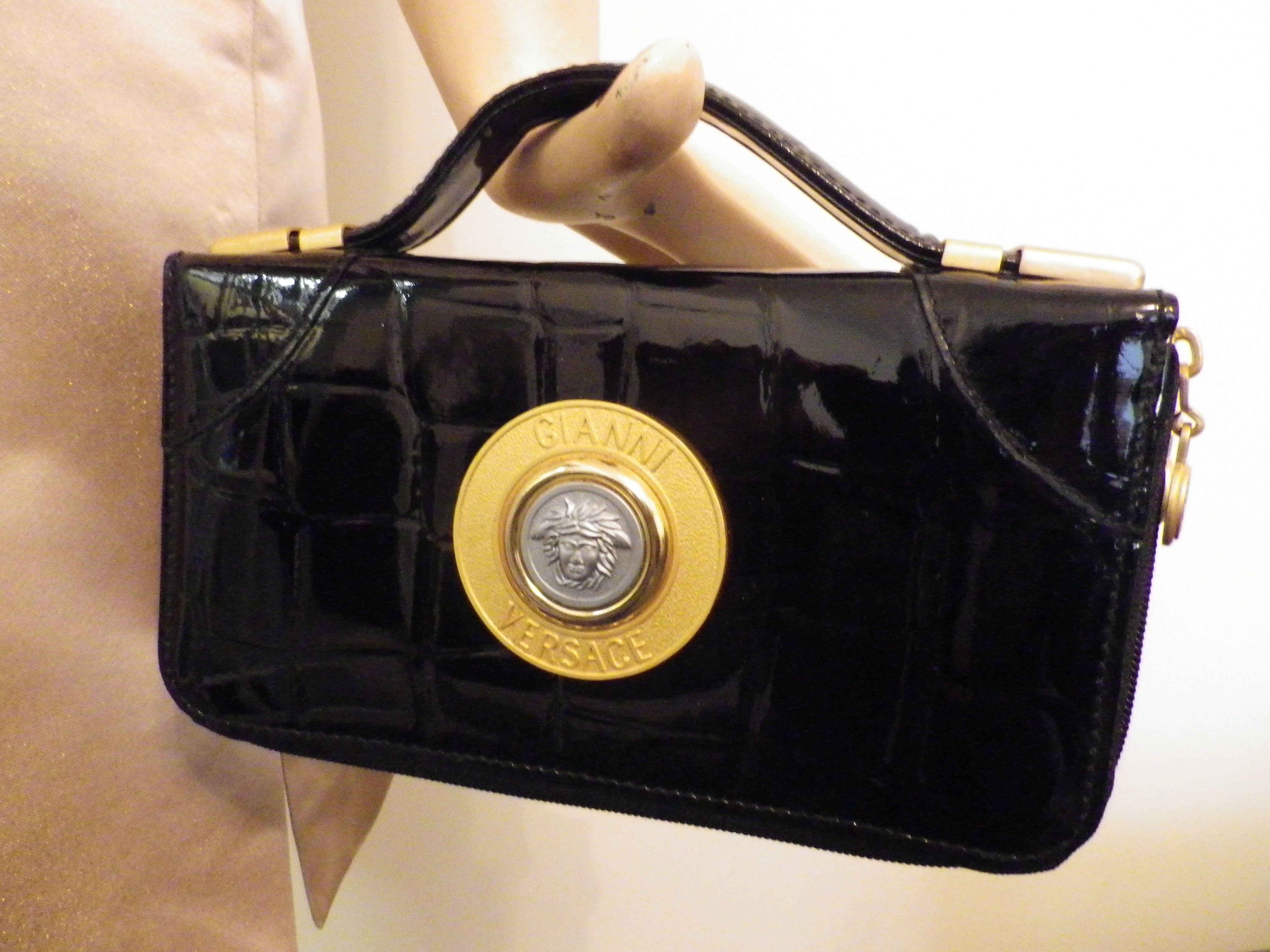 681afeb514 Gianni versace 80s moc croc clutch bag | Gianni Versace 80s & 90s ...