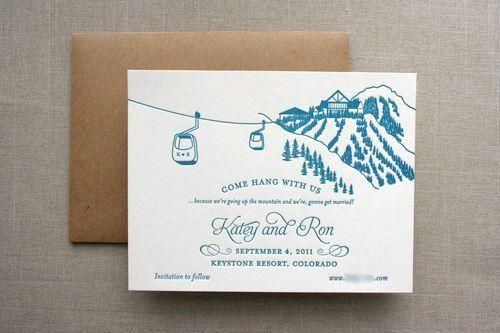 things are better with a parrott : colorado mountain wedding invite. via: thingsrbetterwithaparrott Welcome to the journal of Parrott Design Studio. My name is Sarah & I am a stationer specializing in custom letterpress invitations, stationery, & paper goods. Here I share my recent work & things that inspire me. #things #better #with