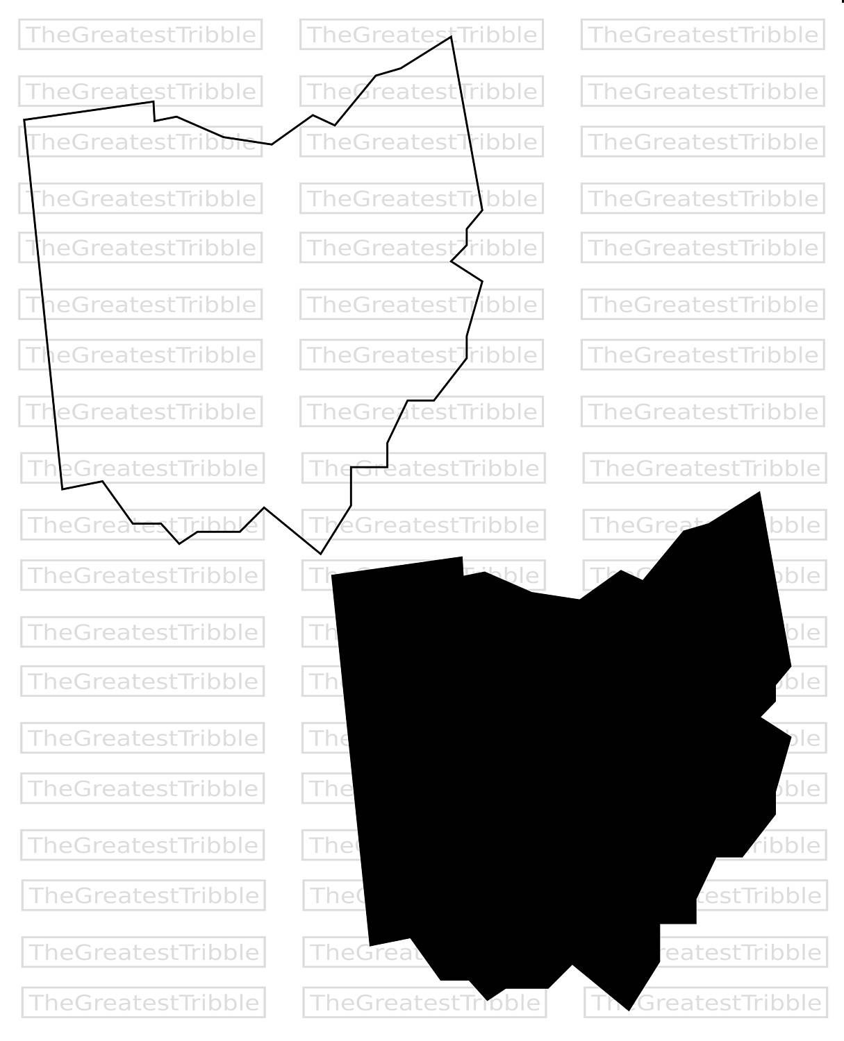 Ohio State Map SVG PNG JPG Vector Graphic Clip Art Ohio