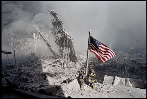 Old Glory At Ground Zero Nyc 9 11 Everything Was Gray That Day Except Our Flag Never Forget With Images September 11