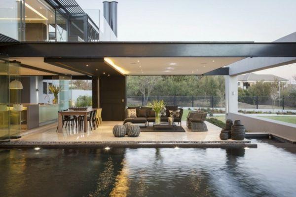 L\' intérieur de la maison contemporaine -salon design - Archzine.fr ...