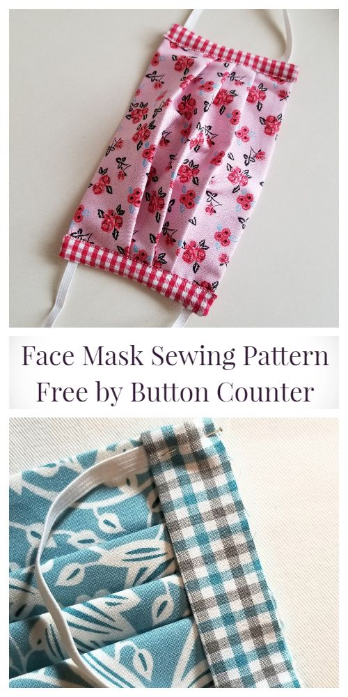 DIY Fabric Face Mask Free Sewing Patterns + Video | Fabric Art DIY