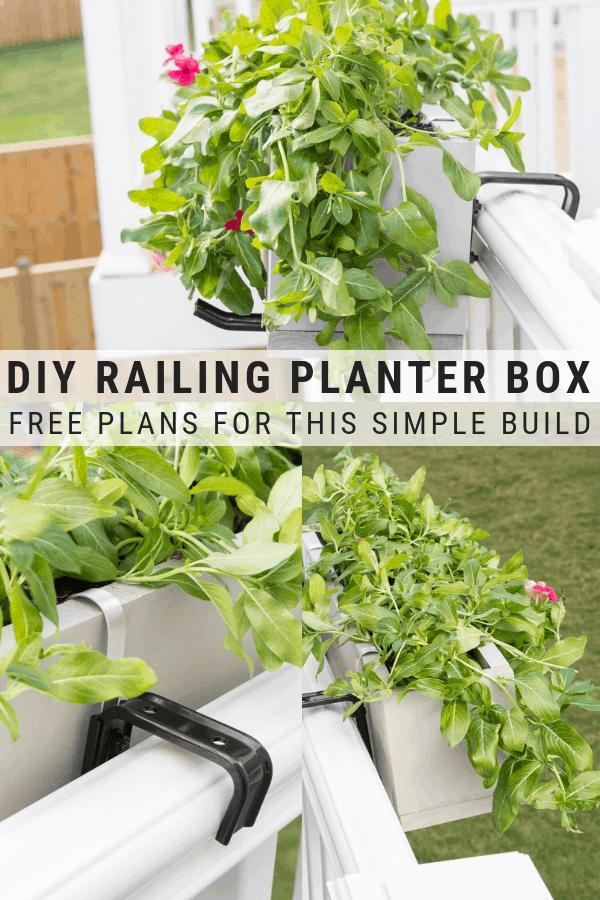 Diy Railing Planter Box In 2020 Railing Planters 640 x 480