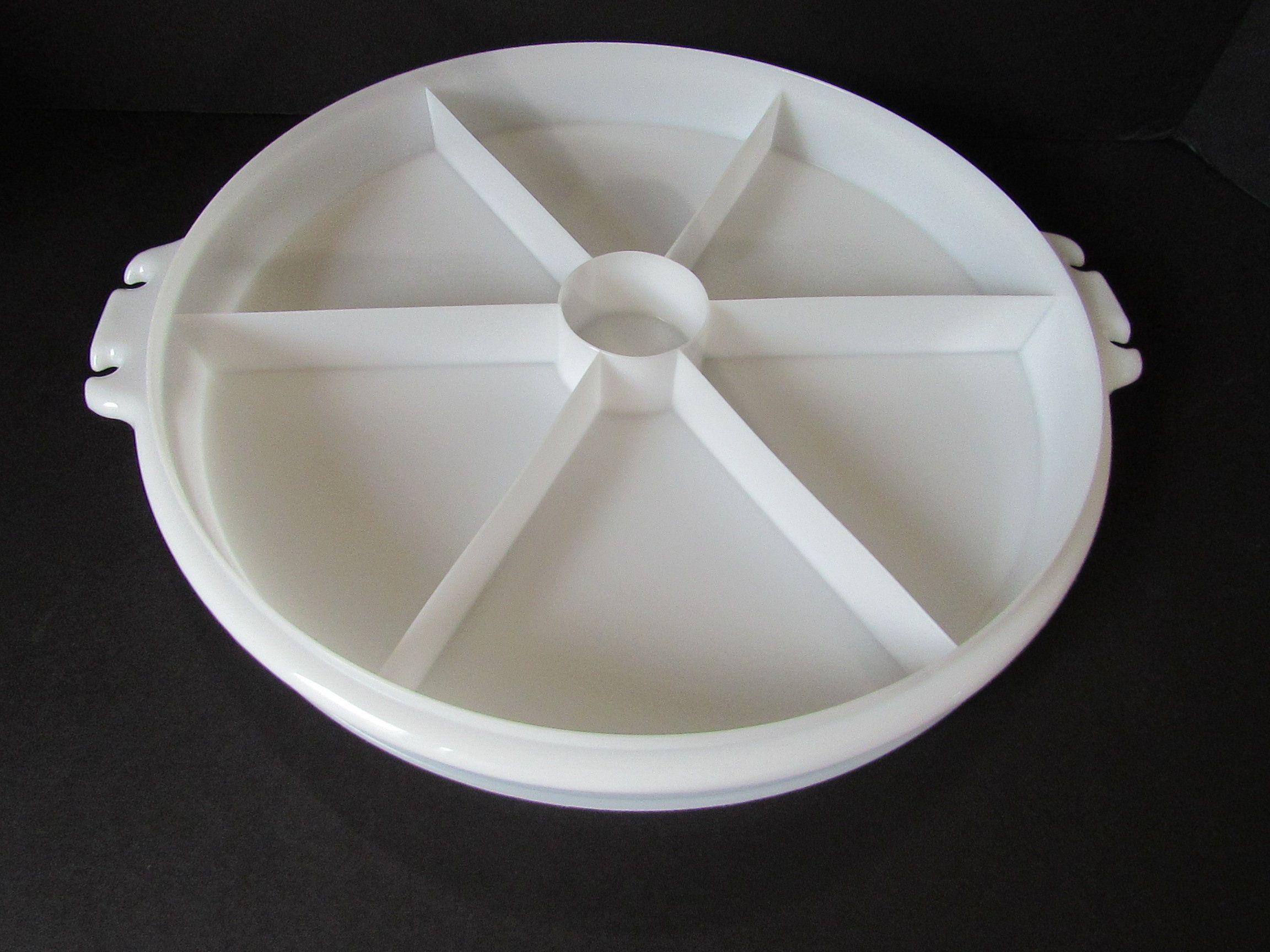 Vintage Tupperware Relish Tray With Lid No Handle Vegetable Storage