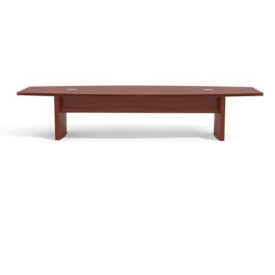 Red Barrel Studio Gilberton Boat Shaped Conference Table Finish Cherry Size 12 L Red Barrel Studio Conference Table Multipurpose Table