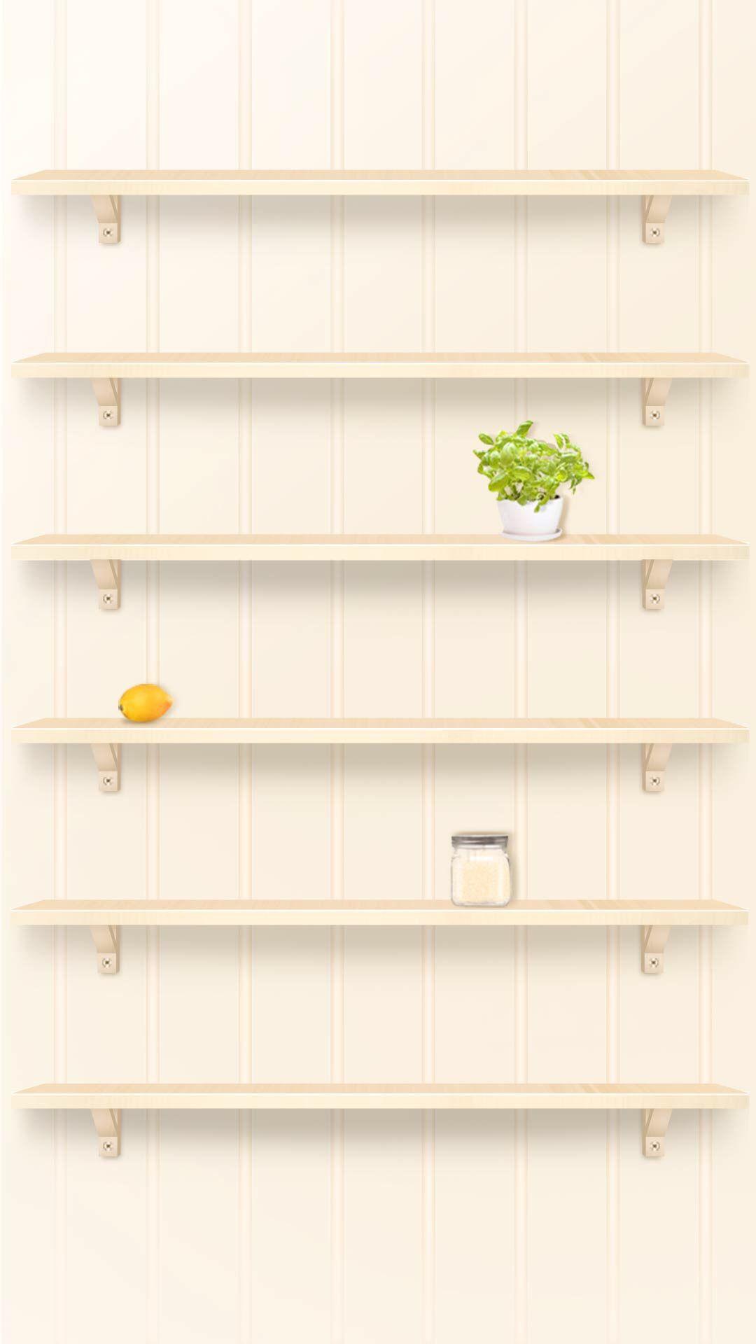 Iphone 6 Plus Home Wallpaper Shelf Wallpaper Shelves Ipad Wallpaper Iphone Background Wallpaper