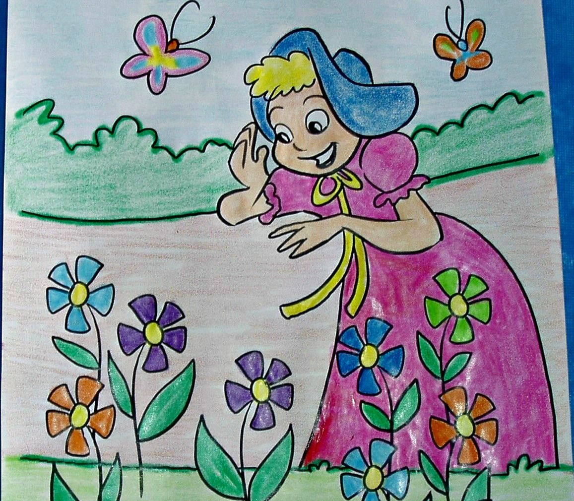 Nursery Rhyme Coloring Page Mary Mary Quite Contrary Is A