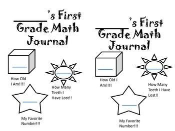 First Grade Math Journal #65 TOTAL pages for WHOLE YEAR