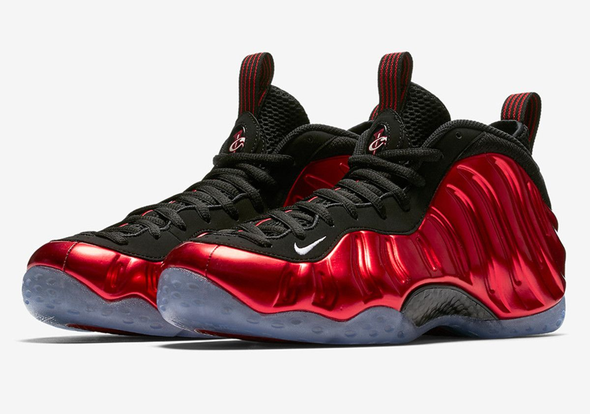 The Nike Air Foamposite One Metallic Red Hits Stores Next Week Foams Shoes Nike White Basketball Shoes Nike Foamposite