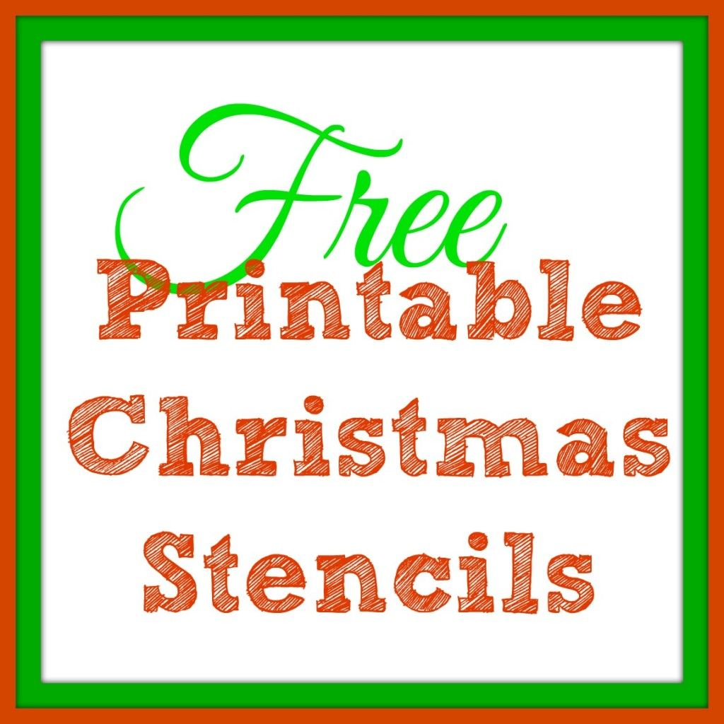 Free printable christmas stencils christmas tree for Merry christmas letter stencils