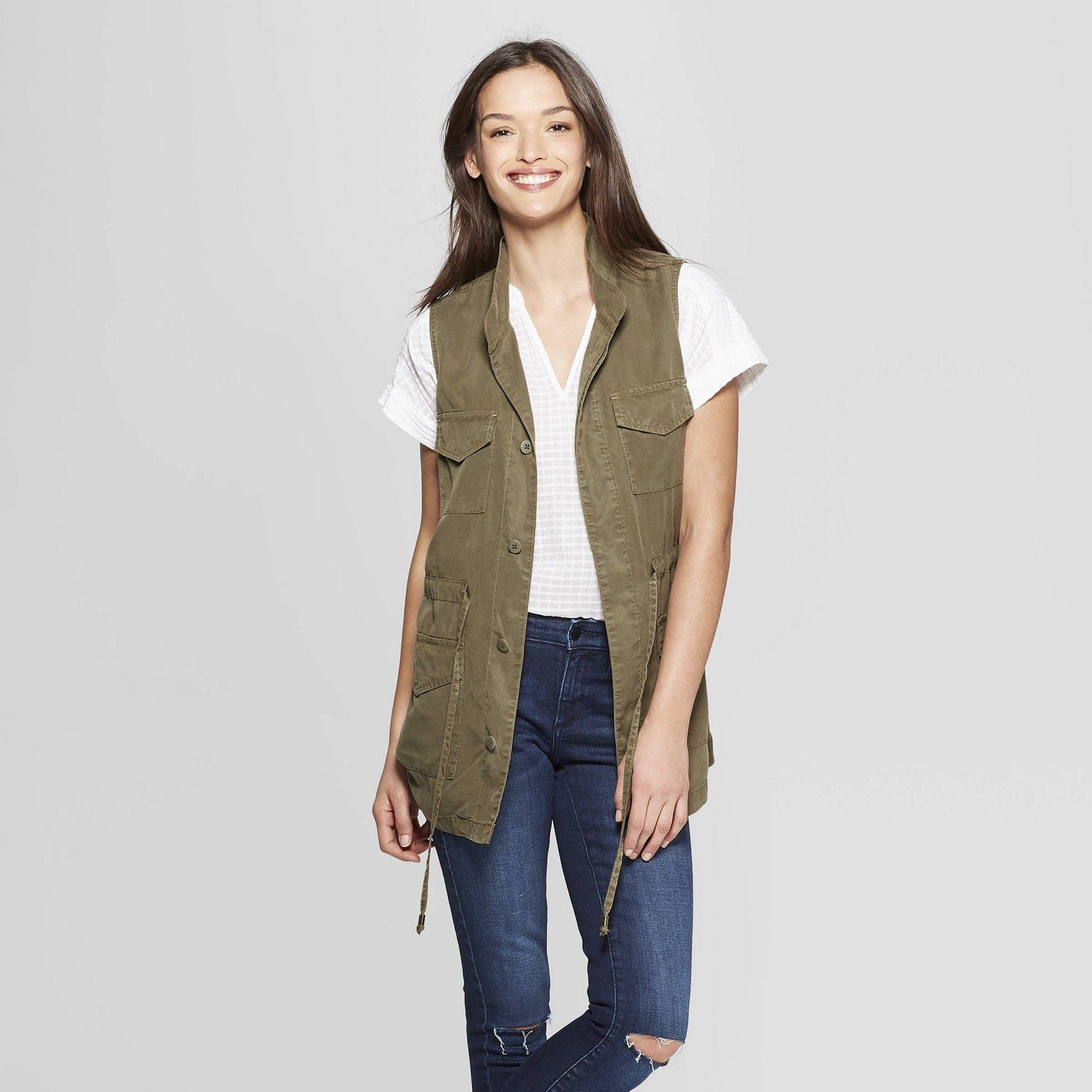 Women s Utility Military Jacket - Universal Thread Olive Xxl e25f1b73d5