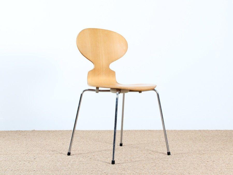 Serie De Six Chaises Scandinave Modele Fourmi Chaise Scandinave Chaise Mobilier De Salon