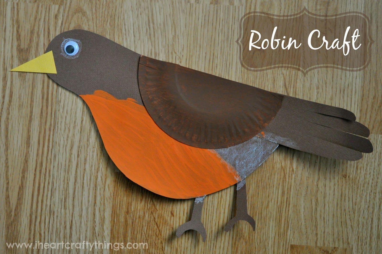 Robin Bird Craft | Pinterest | Ideas preescolares, Plástica y Magdalenas