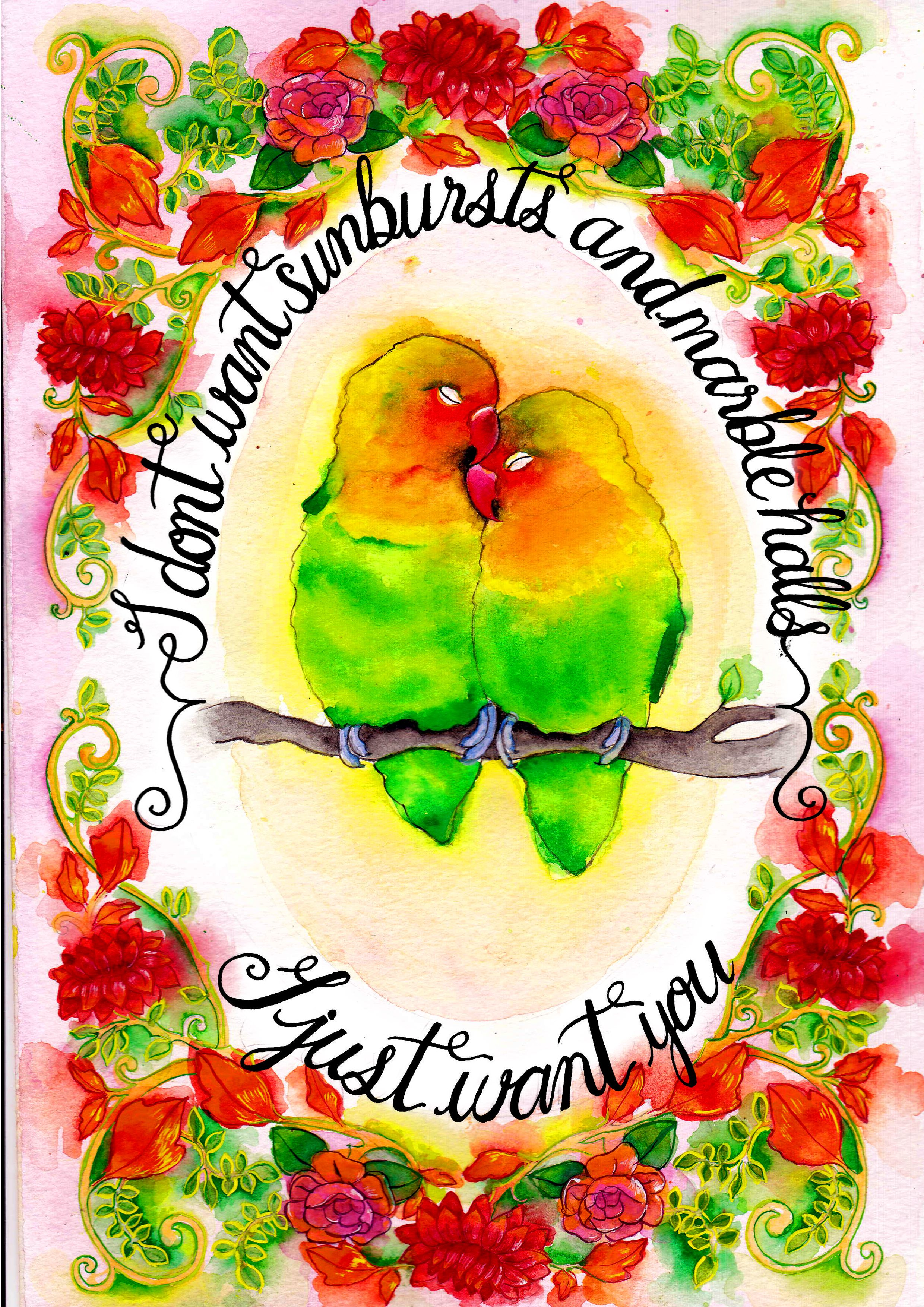 Love Bird Quotes Merle Made Tales Wedding Stationerylove Birds Quote Greeting