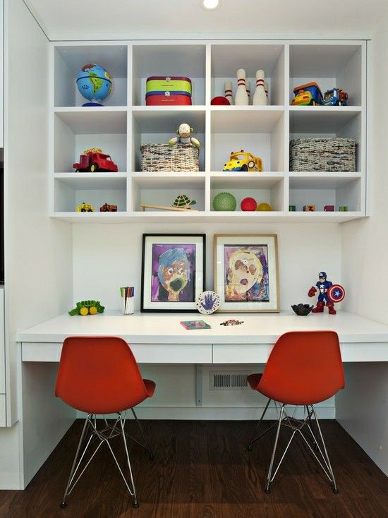 Kids Study, Kid Desk, Image, Study Table Designs, Projects, Kidsroom, Built  Ins, Study Tables, Desk Areas