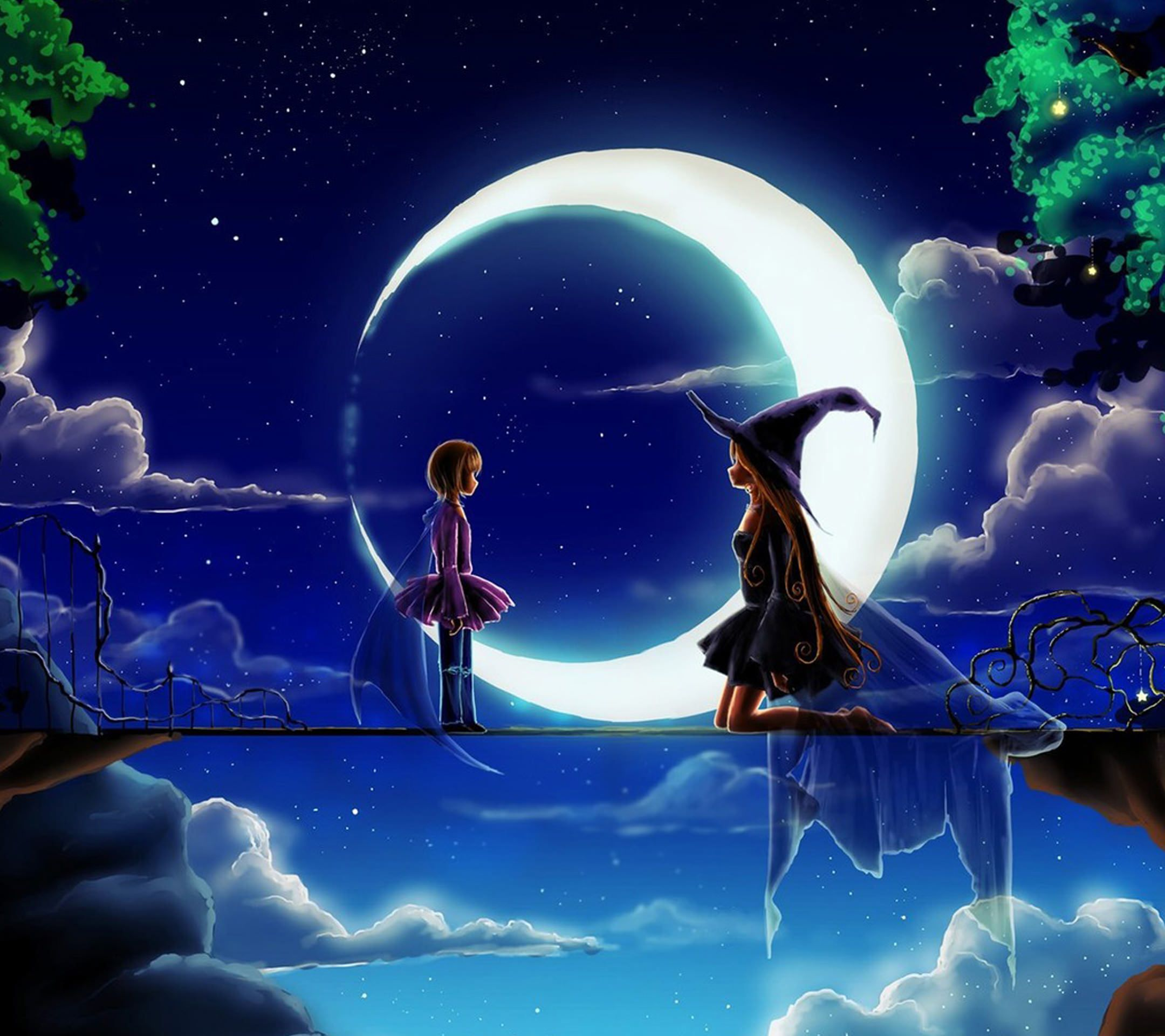Related image Witch wallpaper, Good night wallpaper