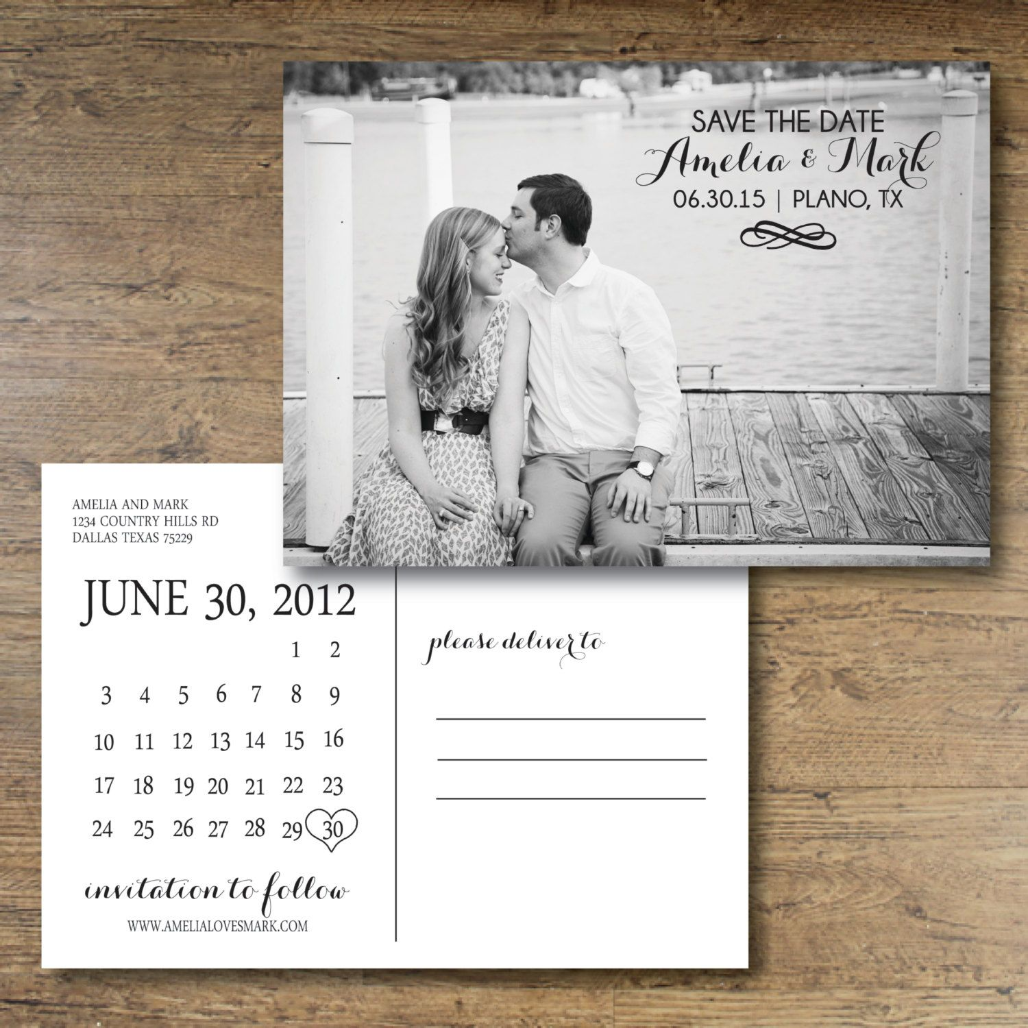 Printable Save The Date Postcard Chic Charm By