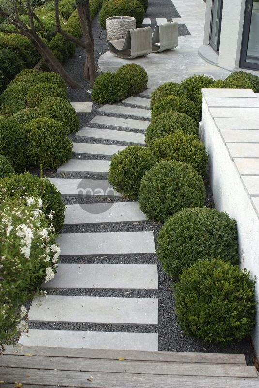 Jardin contemporain recherche garten pinterest for Arbre jardin contemporain