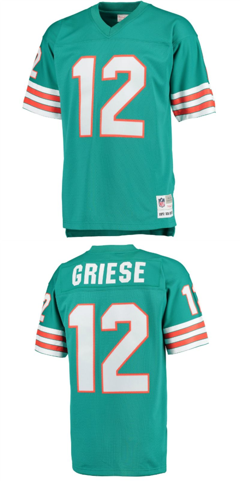 save off 32025 187e5 UP TO 70% OFF. Bob Griese Miami Dolphins Mitchell & Ness ...