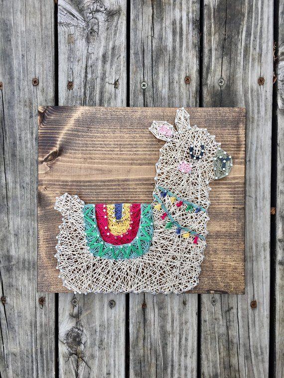 Llama String Art, Llama Nursery, Llama Shower Gift, Baby Llama Sign, Llama Nursery Decor, Alpaca Wall Art, Llama Baby Shower, Llama Nursery #stringart