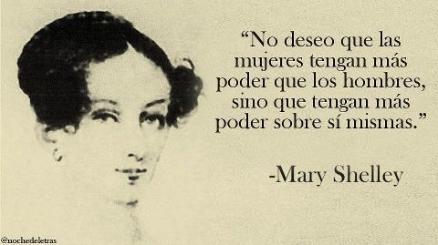Feminista Mary Shelley Con Imagenes Palabras De Sabiduria