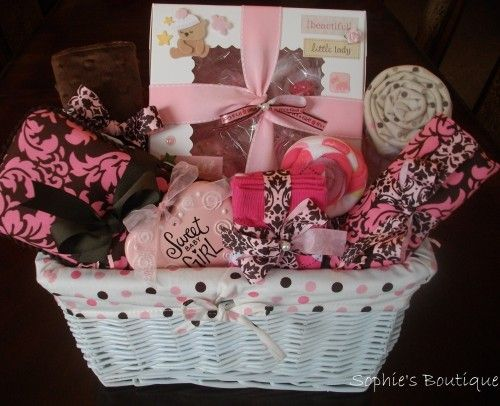 Baby Girl Gift Ideas: Deluxe 25 Piece Sweet Baby Girl Gift Basket Onesies Baby