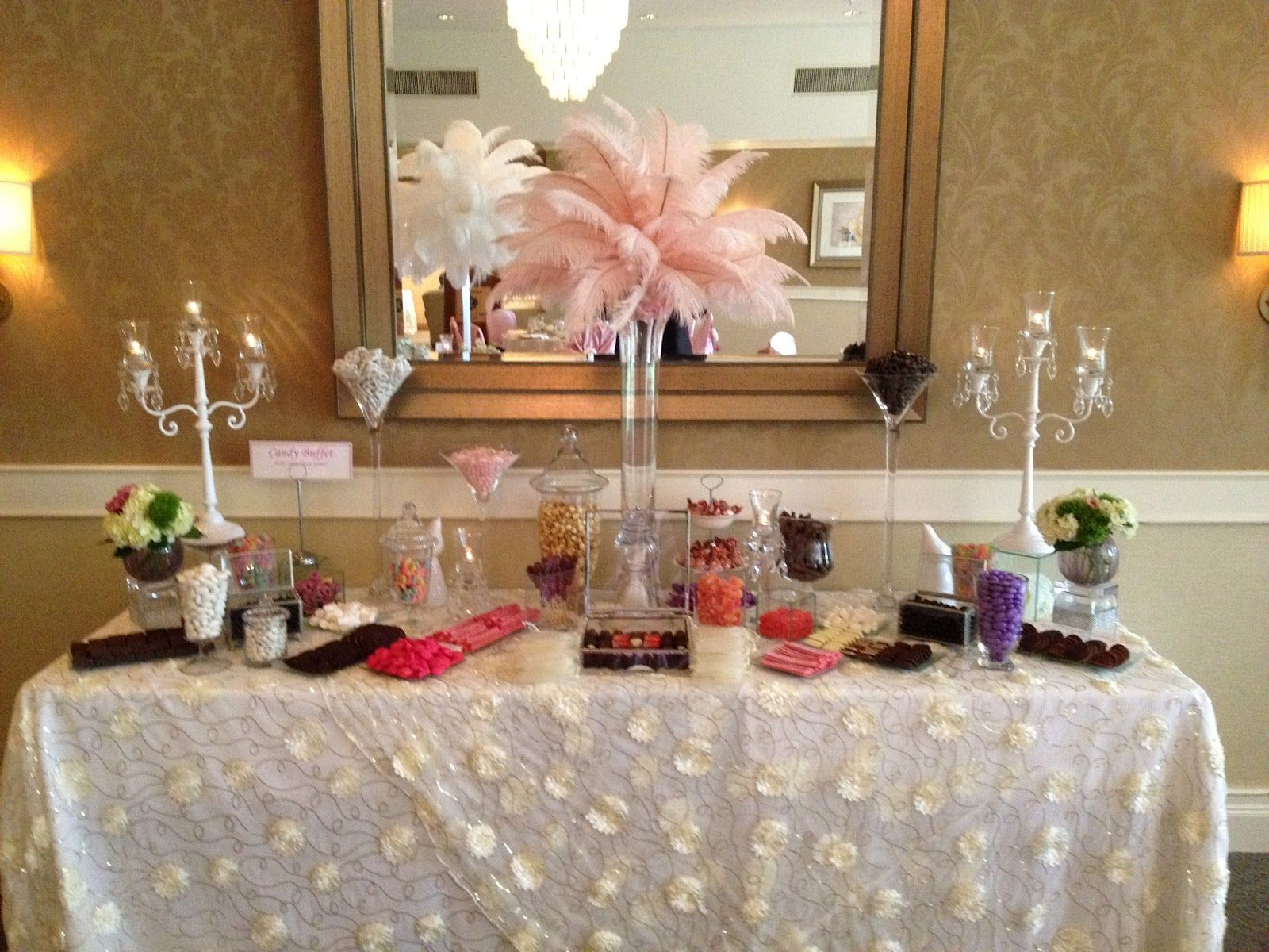 Candy Buffet Tables Ostrich Feather Centerpieces Projects To Try