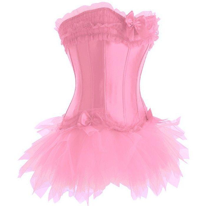 Pink Corset and Skirt Set