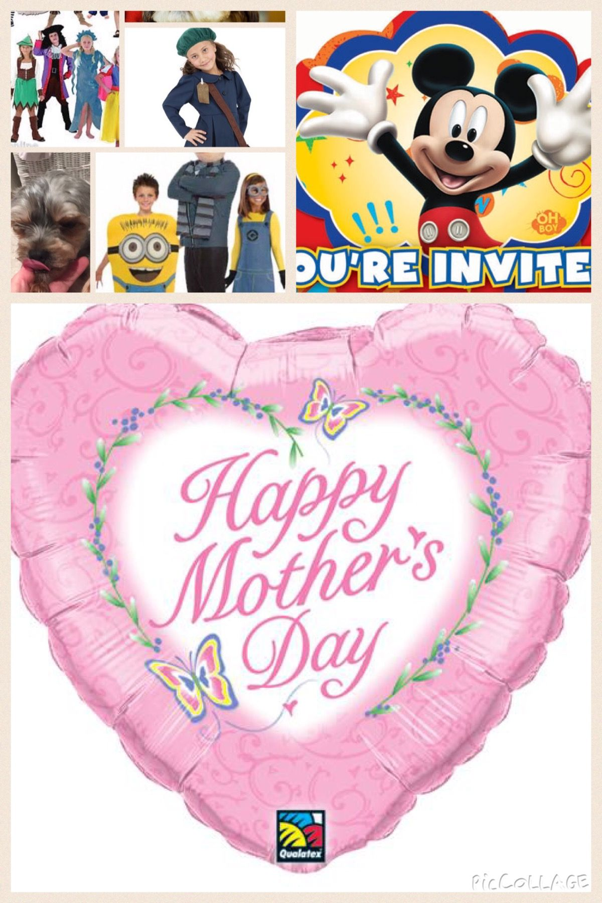 Well Mother's Day is not to far away. So make sure you get all your party supplies , from your local party shop.