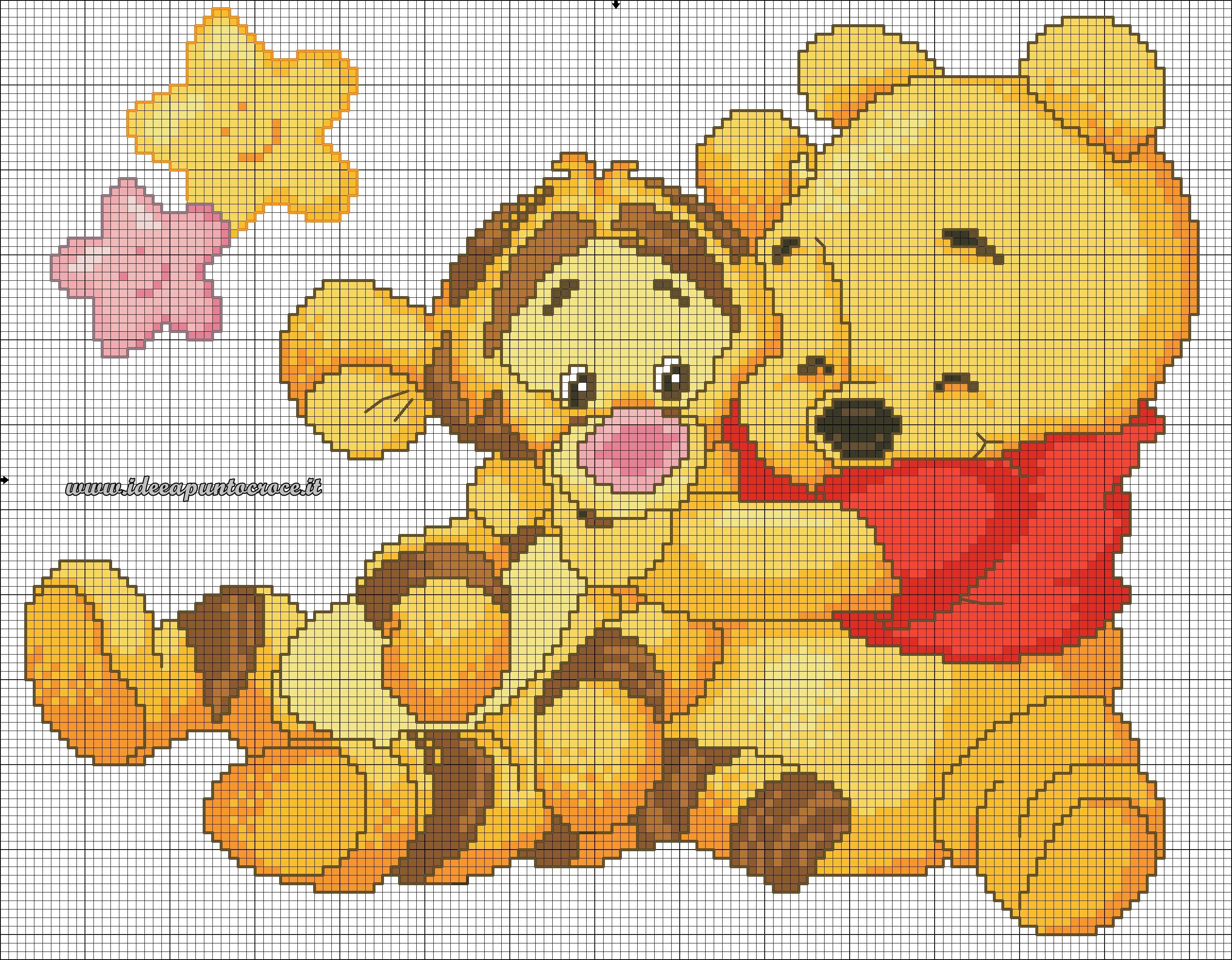 Schema punto croce baby winnie pooh e tigro punto croce for Winnie the pooh punto croce schemi