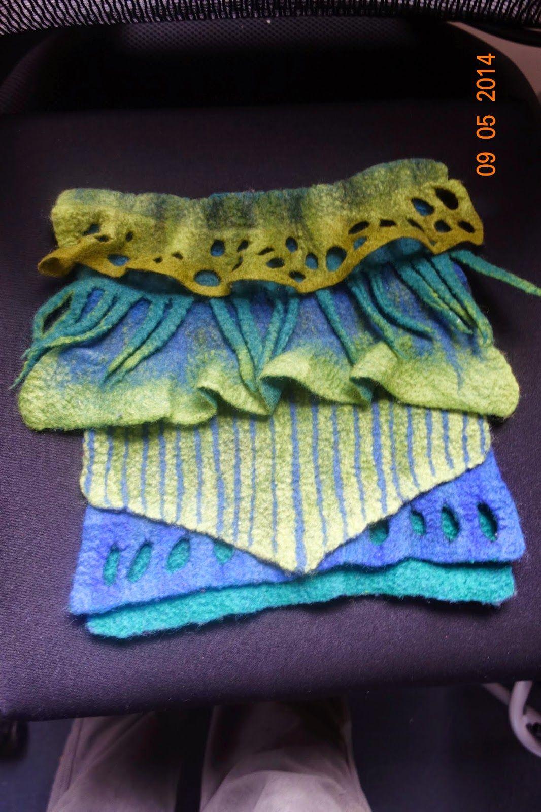 hippopip: felting workshop with Dagmar Binder - Great idea for both ends of a scarf.