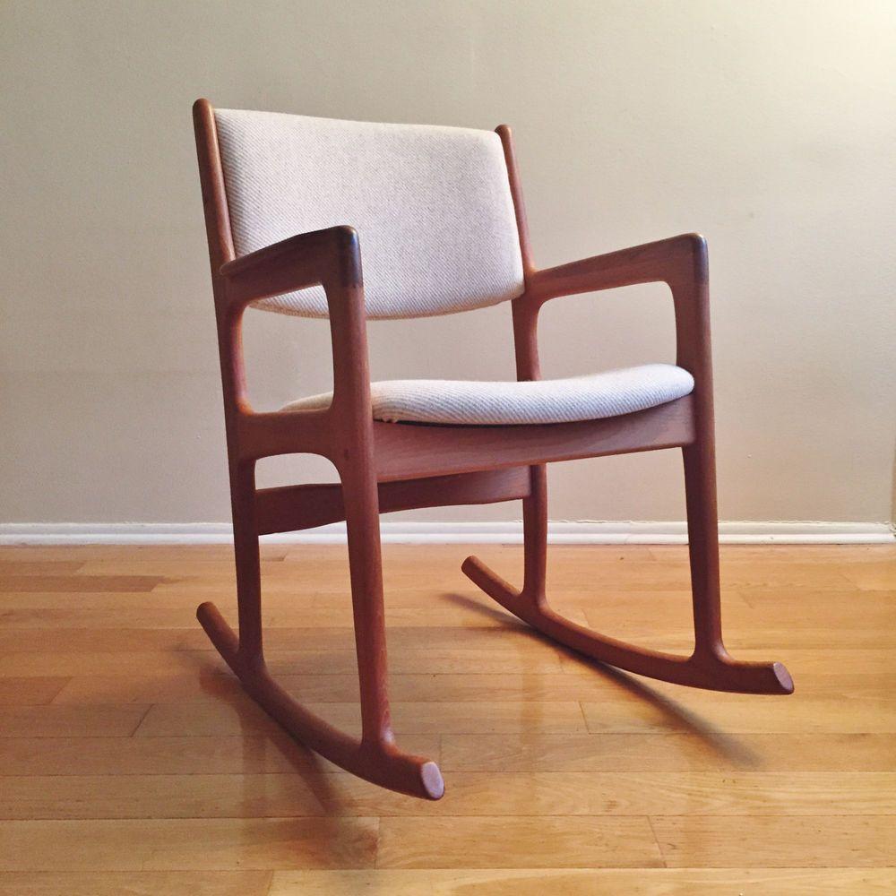 Mid century wood rocking chair - Vintage Mid Century Danish Modern Teak Rocker Rocking Chair By Benny Linden