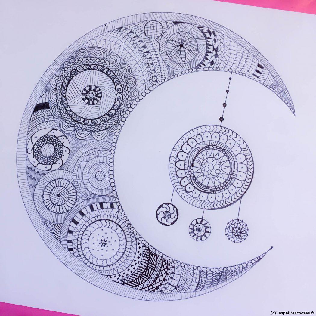 Zentangle (ou coloriage zen) à imprimer   Tangle doodle, Hennas and ...