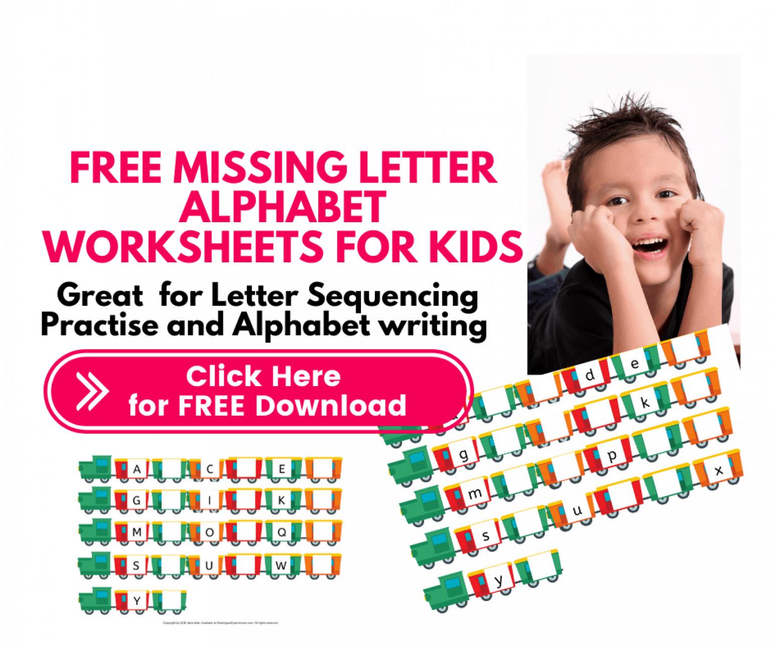 Free Missing Letter Worksheets For Kids