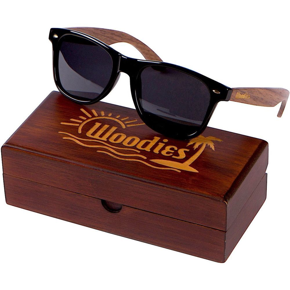 a6b5fcb37cf5 Eco-Friendly Walnut Wood Frame Sunglasses with Dark Polarized Lenses Woodies   fashion  clothing  shoes  accessories  unisexclothingshoesaccs ...