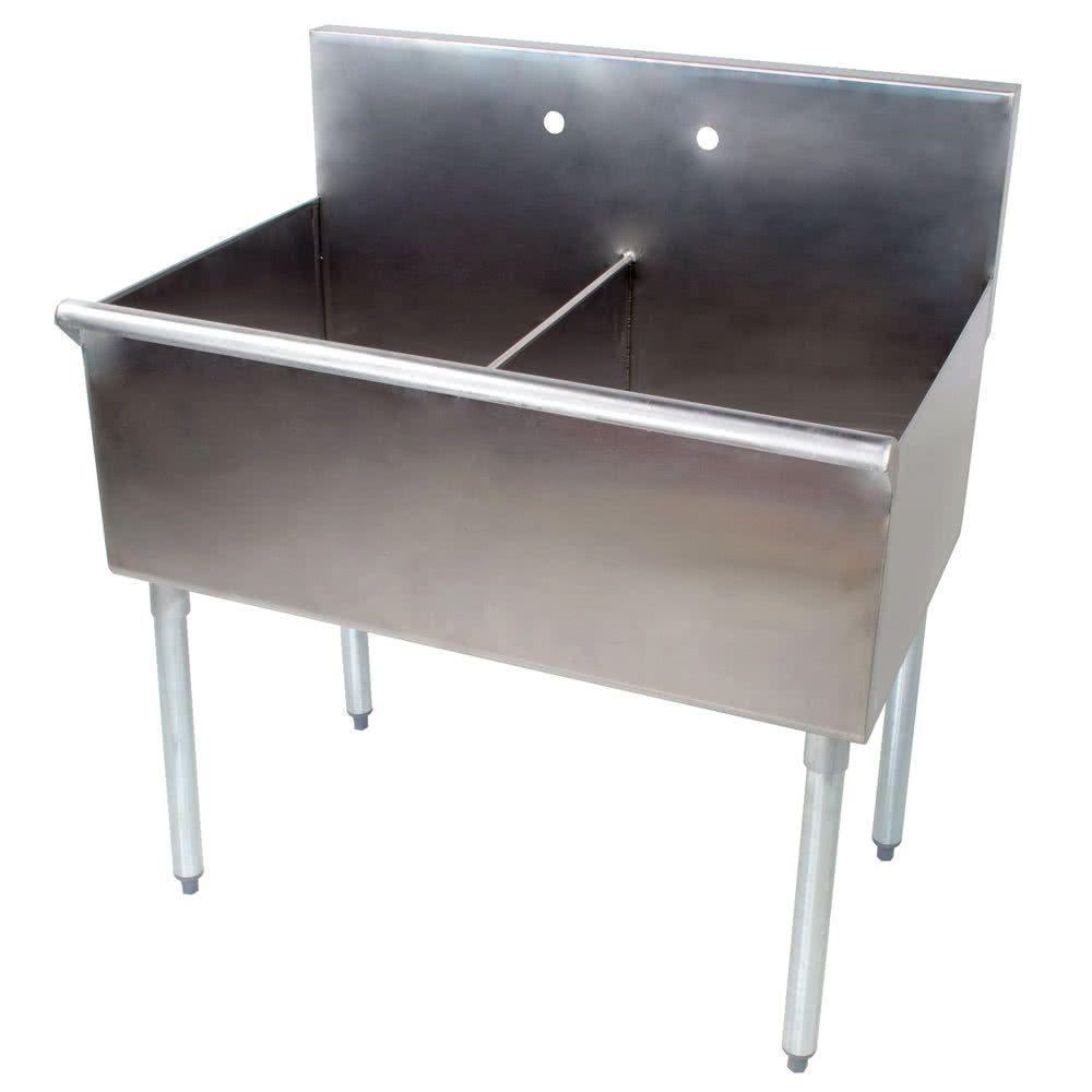 Regency 48 16 Gauge Stainless Steel Two Utility Sink