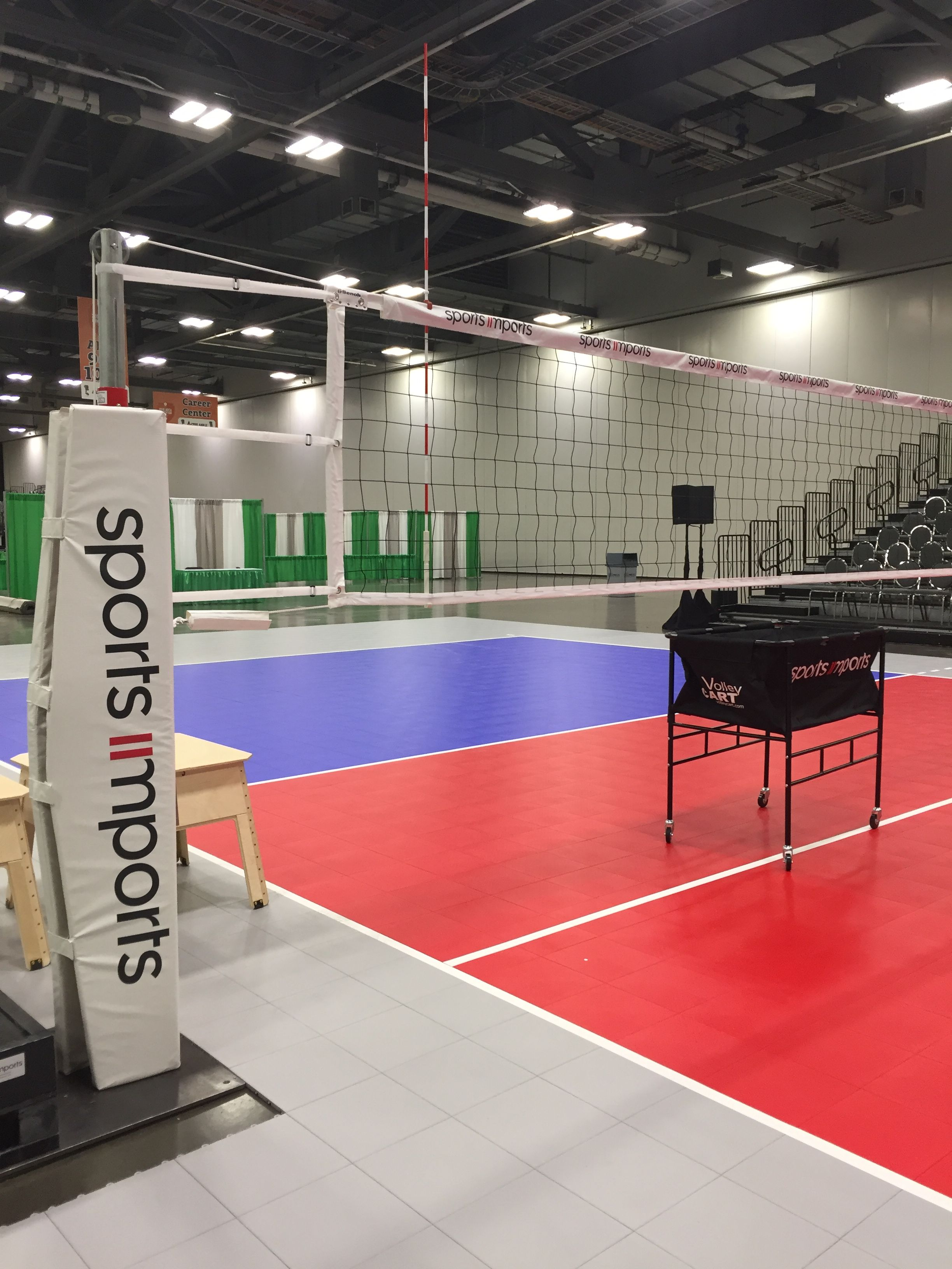 Net Systems Featured At The Avca Convention Indoor Volleyball Outdoor Volleyball Net Volleyball Equipment