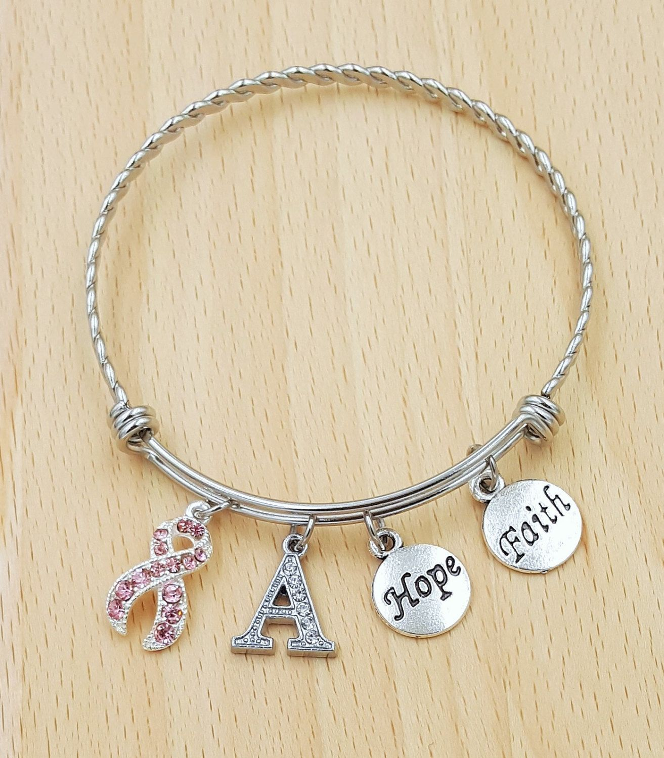 survivor jewelry fullxfull bracelet motivational charm gallery fighter up never breast il listing cancer photo give