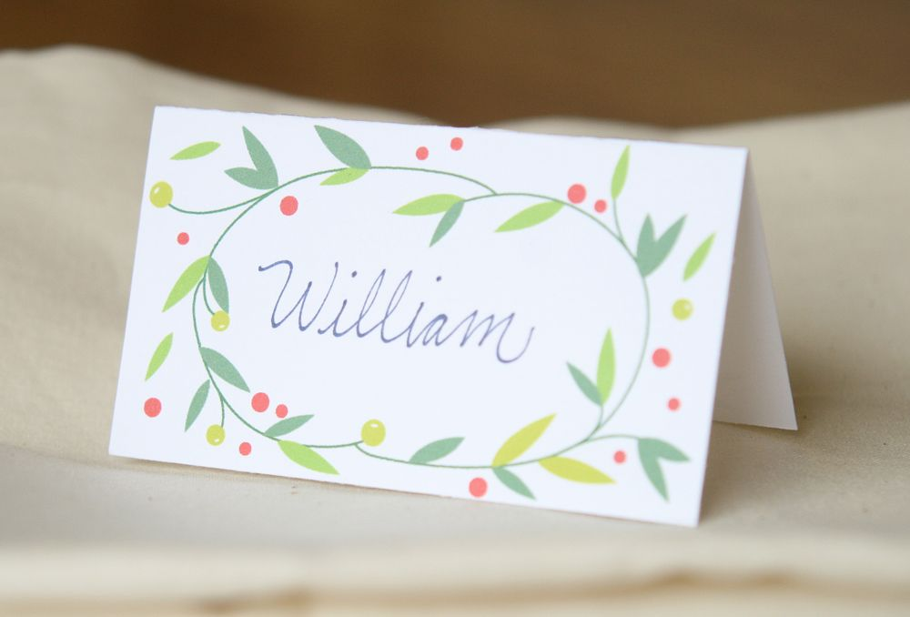 These Holiday Place Cards From Hooplah House Creative Would Be The Perfect Addition To Your Festive