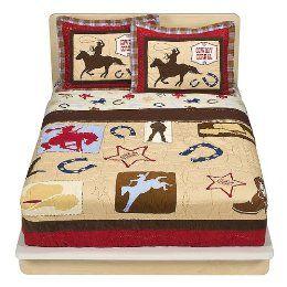 Twin Size Bedding For Little Boys Kids Western Cowboy