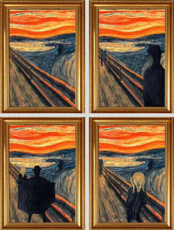 Famous Paintings Before And After Famous Art Art Art Jokes