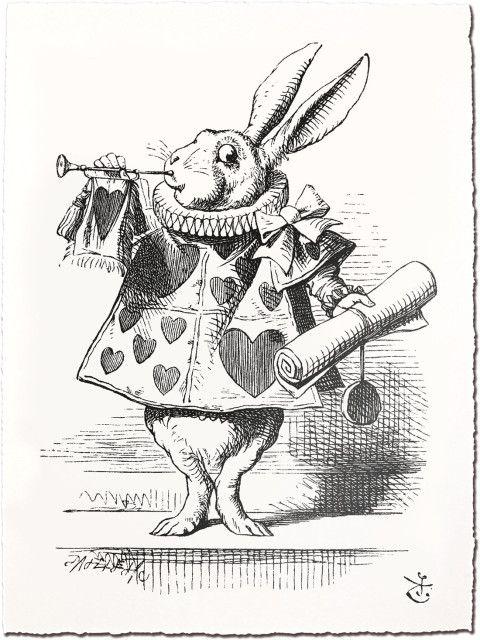 Lapin Dans Alice Au Pays Des Merveilles : lapin, alice, merveilles, Gravures, Colorier, Alice, Merveilles, Tatouage, Merveilles,, Thème, Vintage
