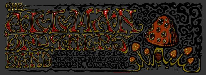 2010 The Allman Brothers Band Macon Show Poster