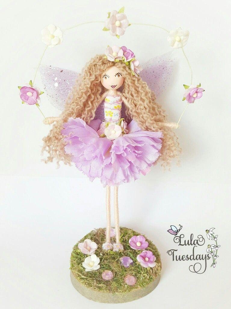 A beautiful fairy by Lula Tuesdays... Handmade fairy Flower fairy Fairy ornament